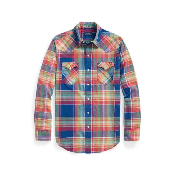 Ralph Lauren Classic Fit Madras Western Shirt In Multi