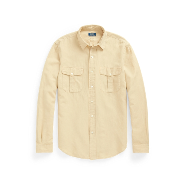 Ralph Lauren Classic Fit Washed Workshirt In Yellow