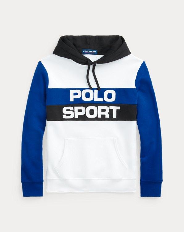 Color-Blocked Polo Sport Fleece Hoodie