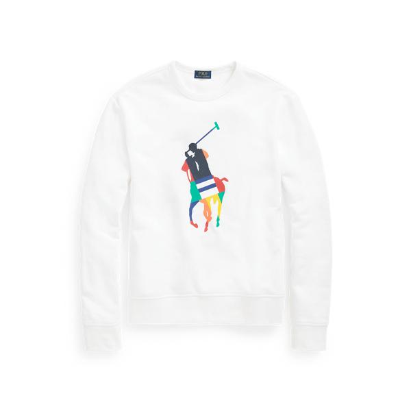 Ralph Lauren Big Pony Fleece Sweatshirt In White