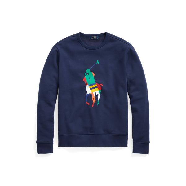 Ralph Lauren Big Pony Fleece Sweatshirt In Blue