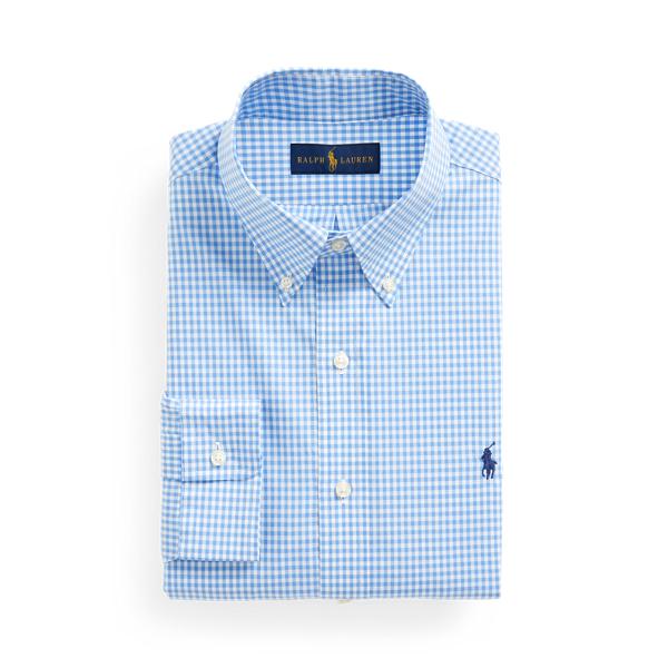 Ralph Lauren Classic Fit Gingham Poplin Shirt In Blue