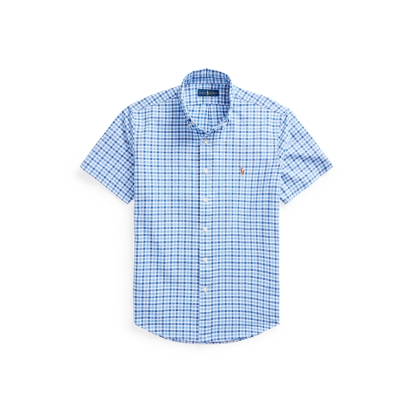 Ralph Lauren Classic Fit Checked Oxford Shirt In Cabana Blue/navy