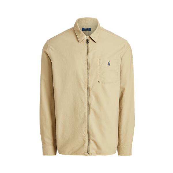 Ralph Lauren Classic Fit Oxford Full-zip Shirt In Yellow