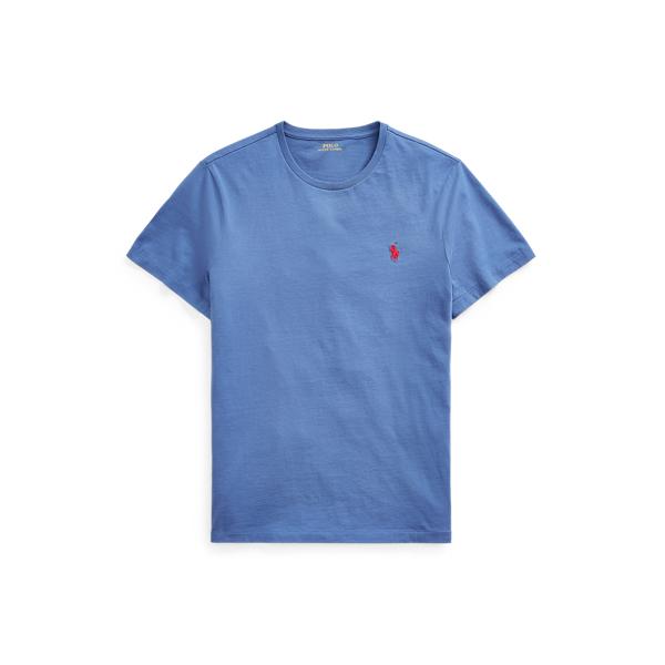 Ralph Lauren Custom Slim Fit Jersey Crewneck T-shirt In Blue