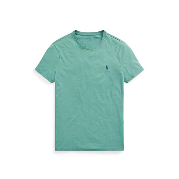 Ralph Lauren Custom Slim Fit Jersey Crewneck T-shirt In Green