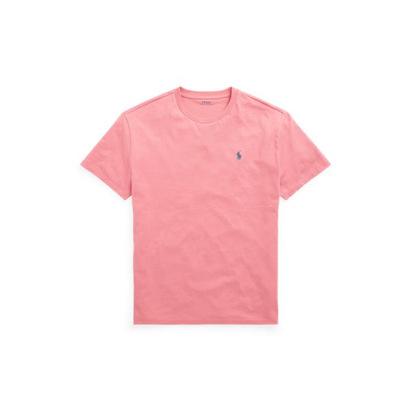 Ralph Lauren Custom Slim Fit Jersey Crewneck T-shirt In Desert Rose