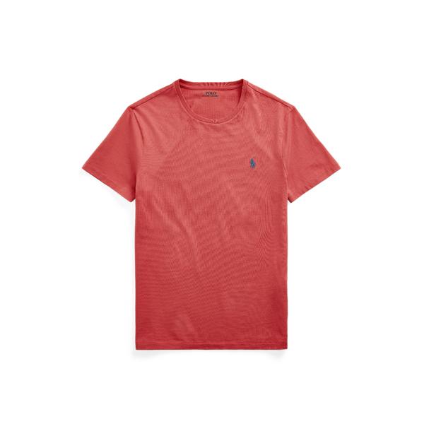 Ralph Lauren Custom Slim Fit Jersey Crewneck T-shirt In Chili Pepper