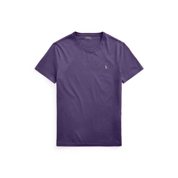Ralph Lauren Custom Slim Fit Jersey Crewneck T-shirt In Purple