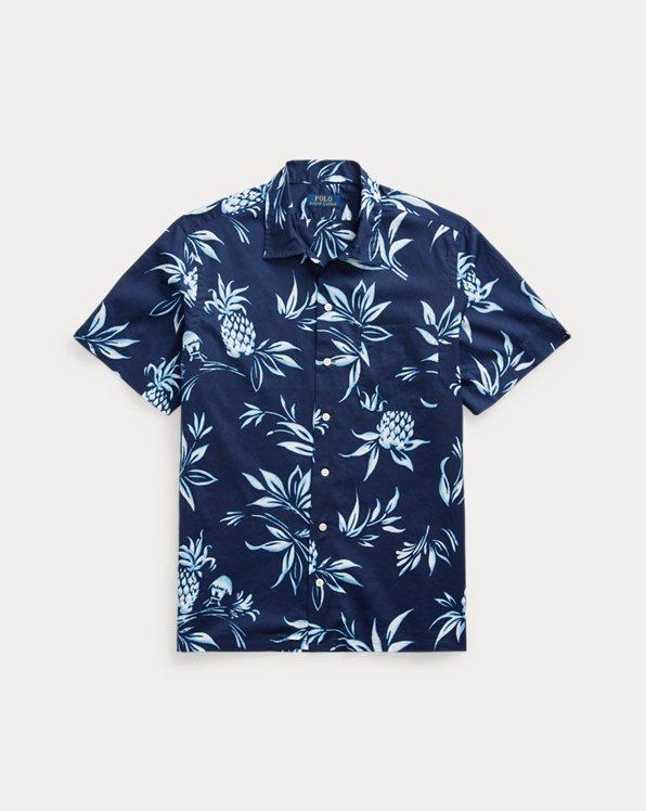 Chemise safari classique à motif ananas