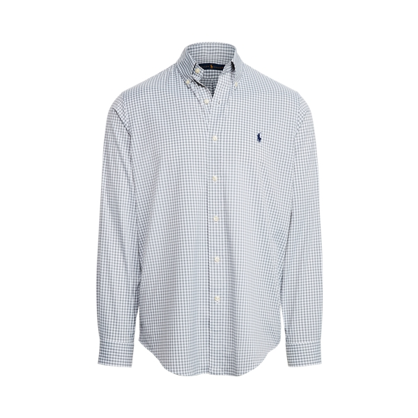 Ralph Lauren Classic Fit Checked Performance Shirt In Gray