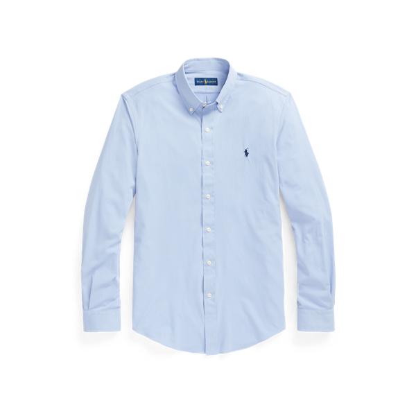 Ralph Lauren Slim Fit Performance Twill Shirt In Blue