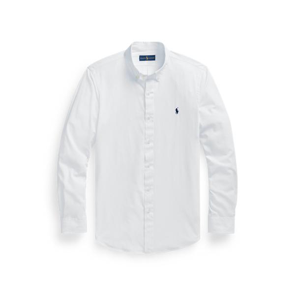 Ralph Lauren Slim Fit Performance Twill Shirt In White