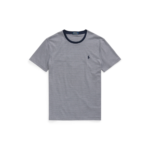 Ralph Lauren Classic Fit Soft Cotton T-shirt In French Navy/white