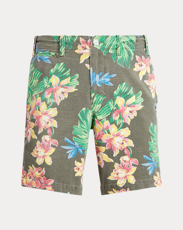 8-Inch Classic Fit Floral Twill Short
