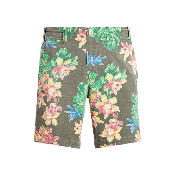 Ralph Lauren 8-inch Classic Fit Floral Twill Short In Surplus Tropical