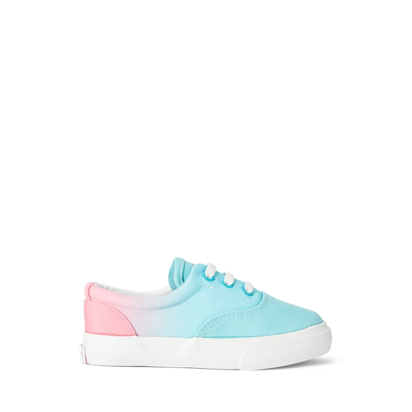 Polo Ralph Lauren Kids' Bryn Ombré Canvas Sneaker In Turquoise & Pink Ombre