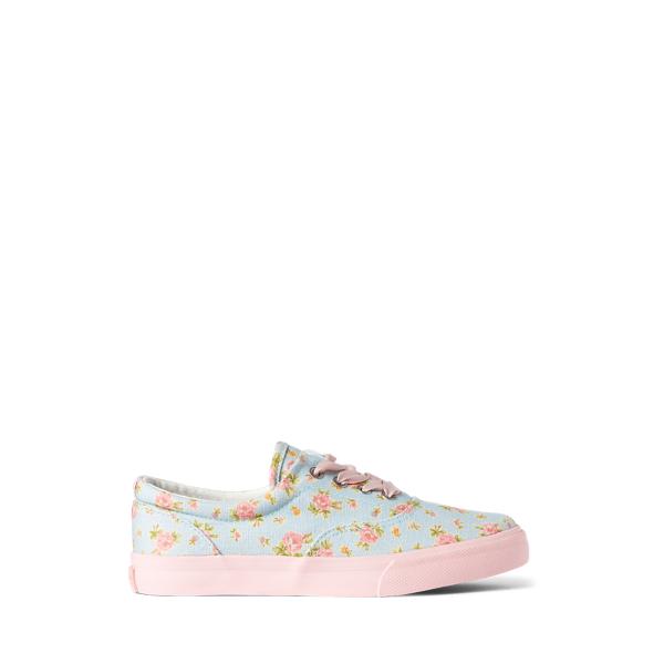 Polo Ralph Lauren Kids' Bryn Floral Canvas Sneaker In Multi