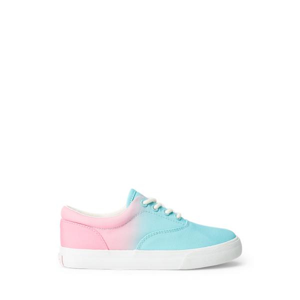 Polo Ralph Lauren Kids' Bryn Ombré Canvas Sneaker In Turquoise