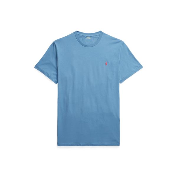 Polo Ralph Lauren Jersey Crewneck T-shirt In Delta Blue/c4488