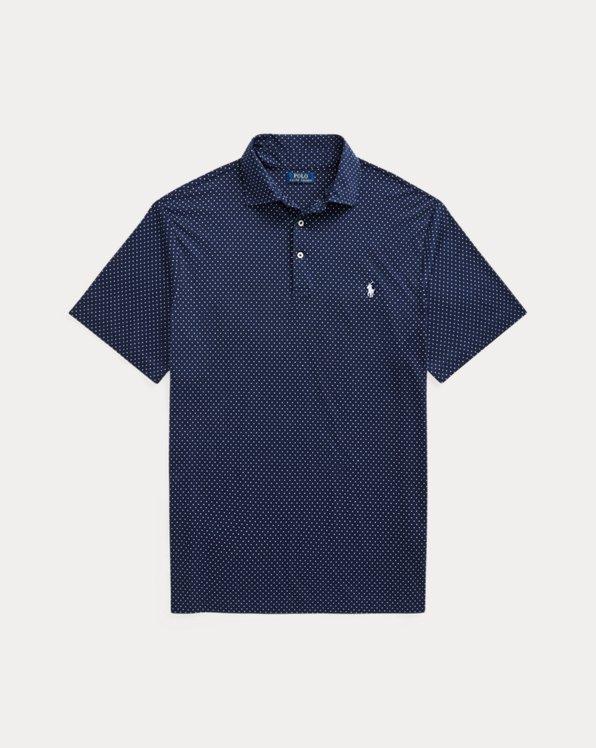 Polka-Dot Soft Cotton Polo Shirt
