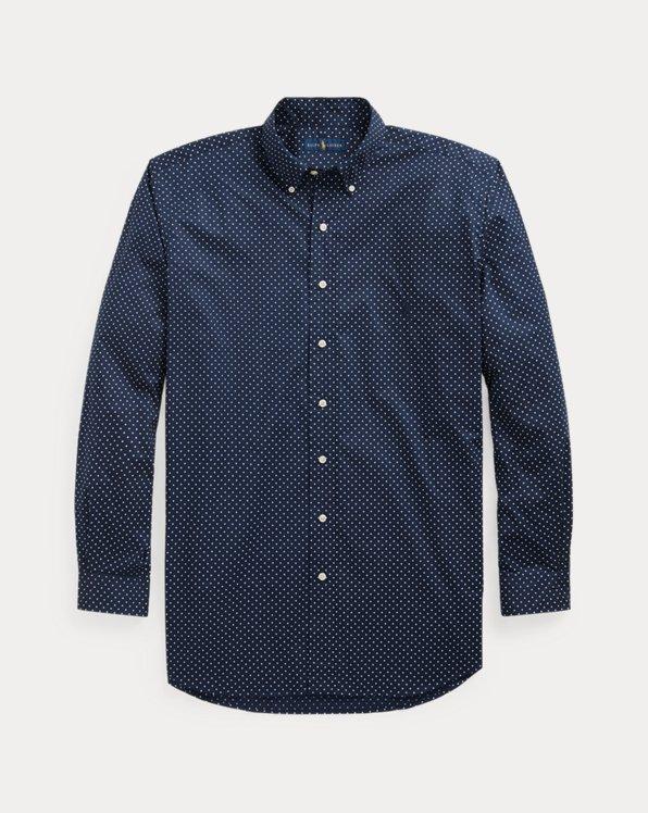 Dot-Print Poplin Shirt