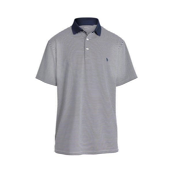 Polo Ralph Lauren Performance Jersey Polo Shirt In Blue