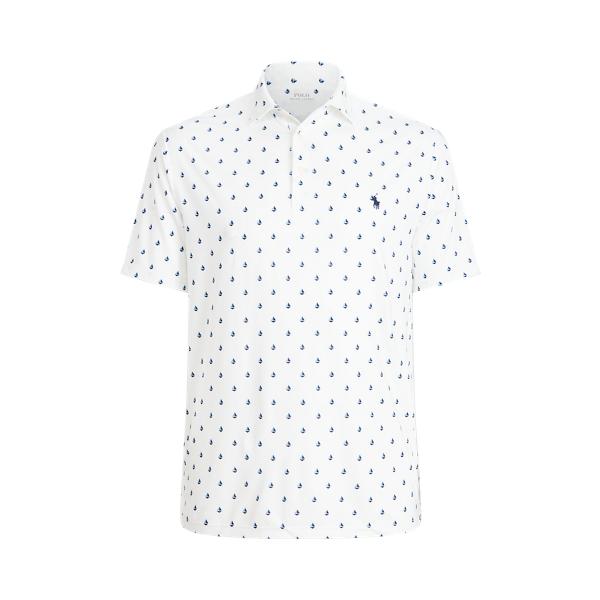 Polo Ralph Lauren Sailboat-print Performance Polo Shirt In White
