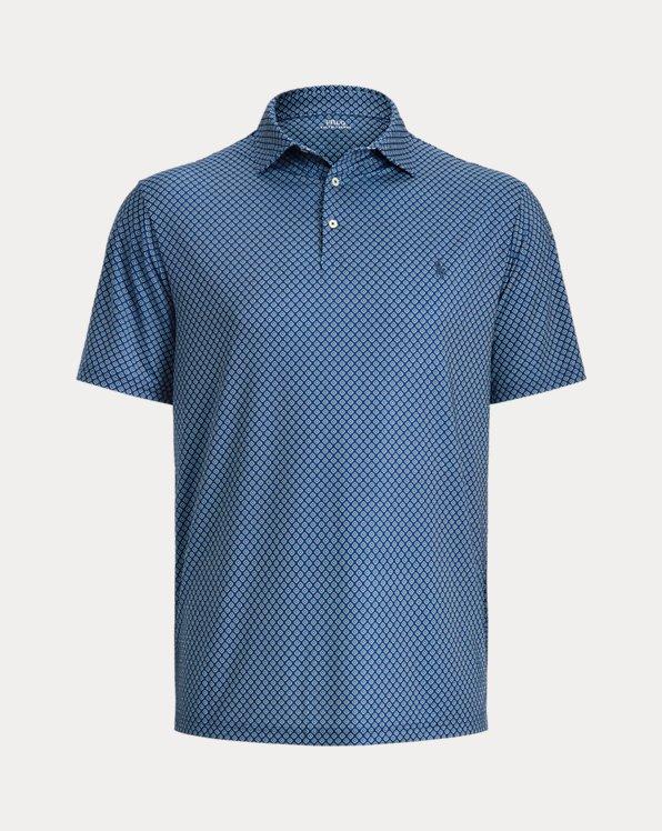 Foulard-Print Performance Polo Shirt
