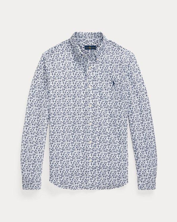 Geblümtes Hemd aus federleichtem Piqué
