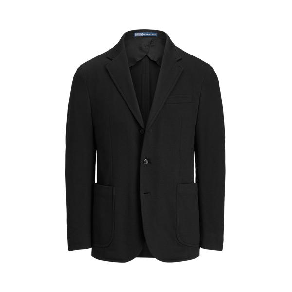 Ralph Lauren Polo Soft Knit Suit Jacket In Black