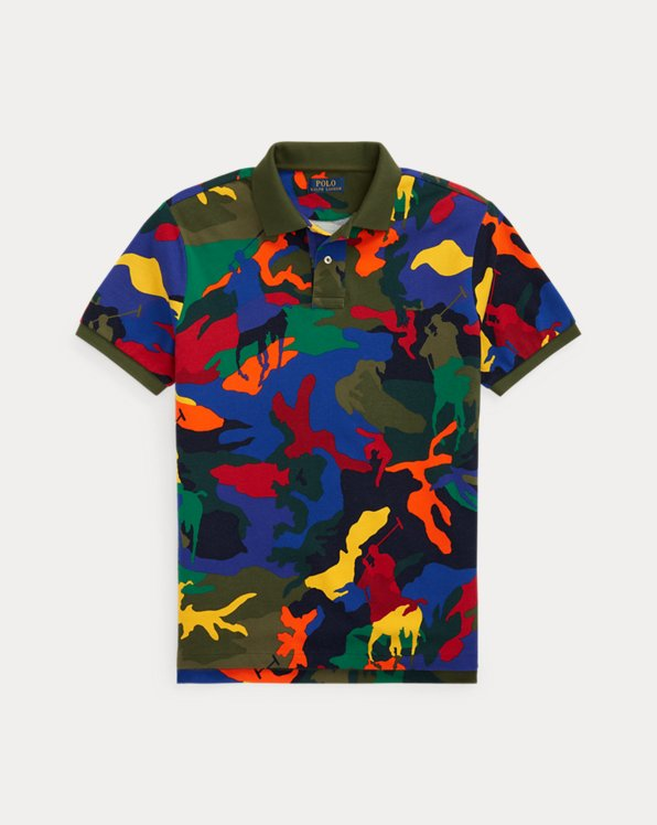 Polo ajusté motif camouflage poney Polo