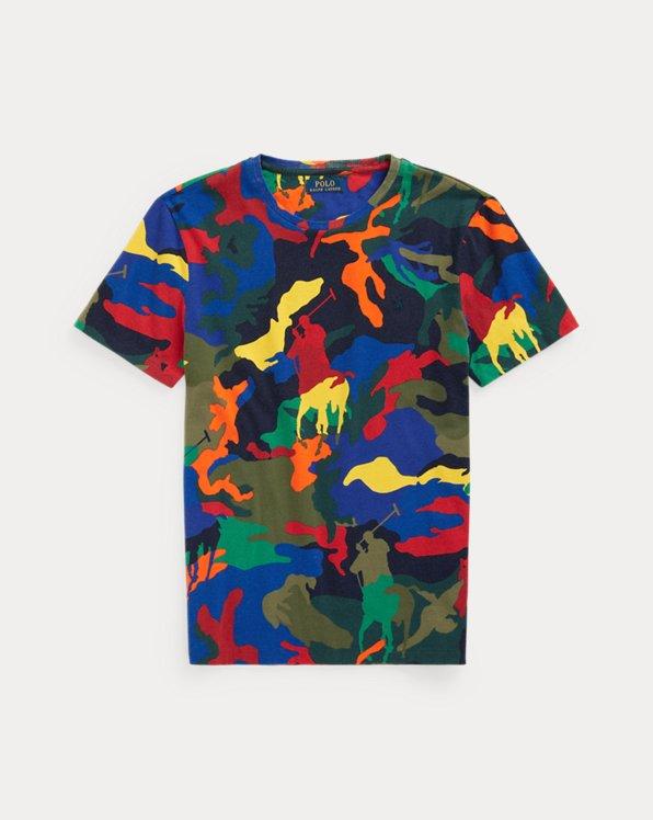 T-shirt ajusté camouflage poney Polo
