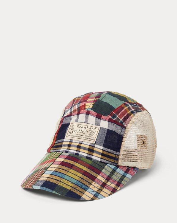 Patchwork Madras Long-Bill Cap