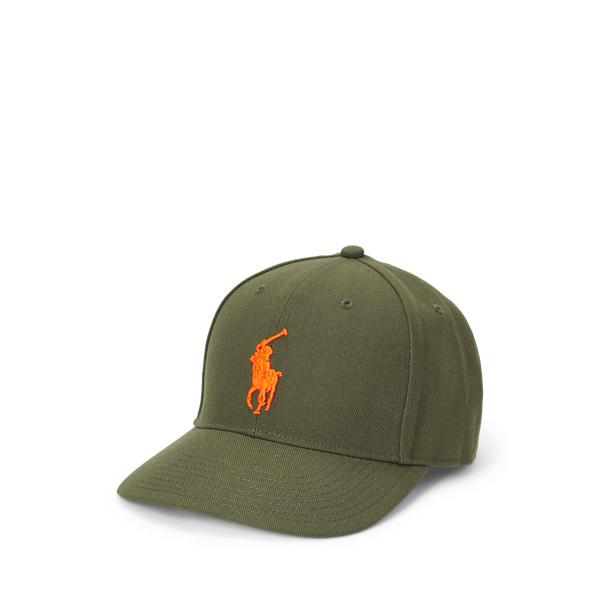 Ralph Lauren Twill High-crown Ball Cap In Green