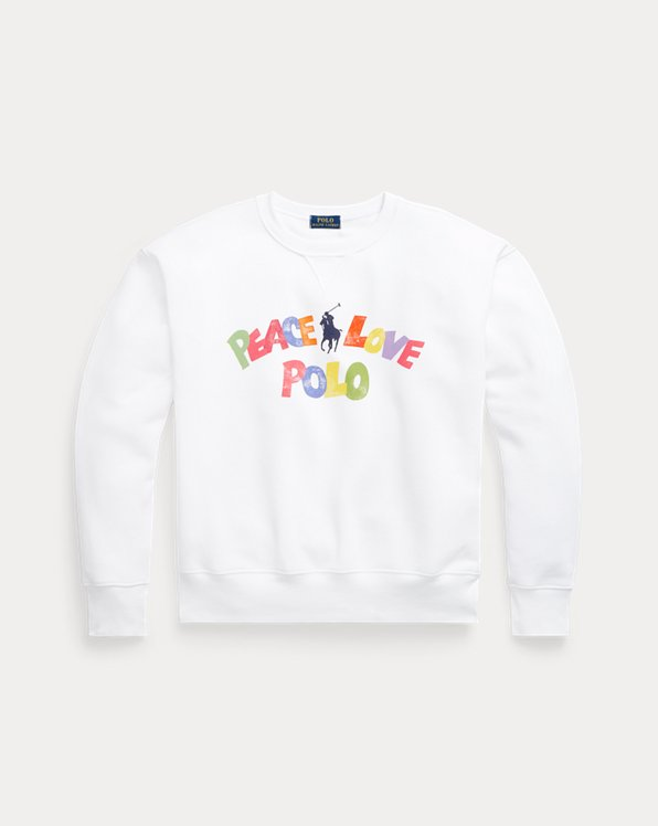 Peace Love Polo Graphic Sweatshirt