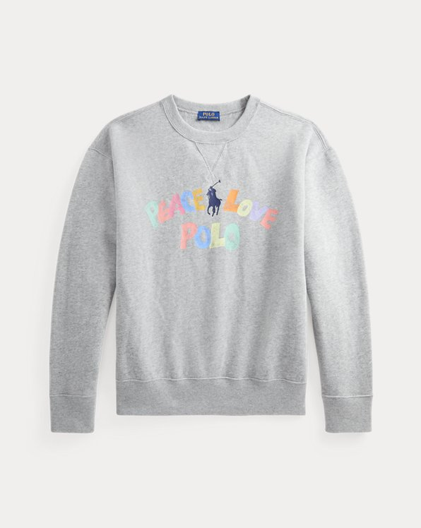 Peace Love Polo Graphic Sweatshirt