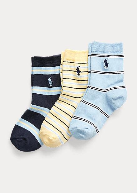 Polo Ralph Lauren Striped Crew Sock 3 Pack