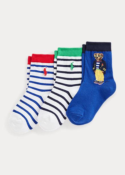 Polo Ralph Lauren Polo Bear Crew Sock 3 Pack