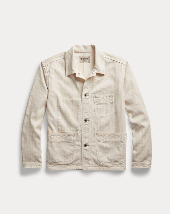 Linen-Cotton Herringbone Sport Coat