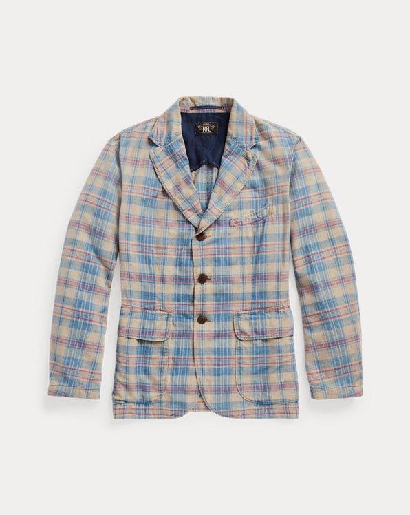 Indigo Plaid Woven Sport Coat