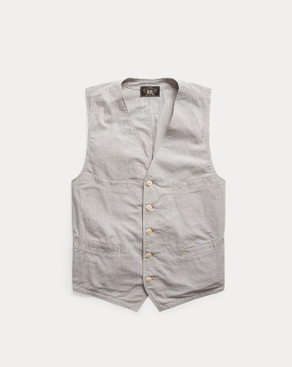 Striped Seersucker Vest