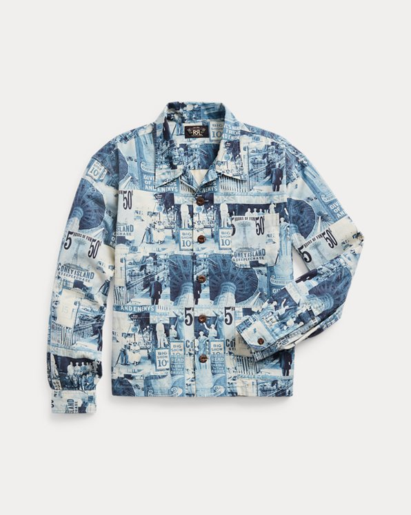 Photo-Print Twill Camp Shirt