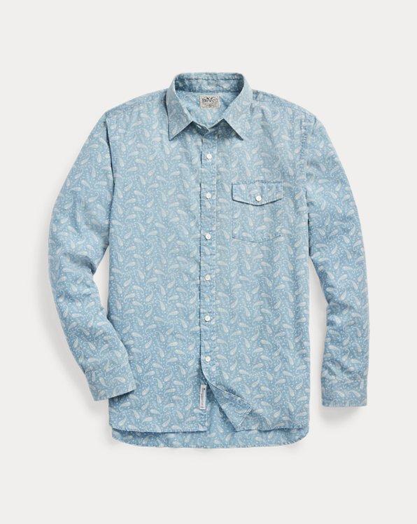 Slim Fit Indigo Paisley Shirt
