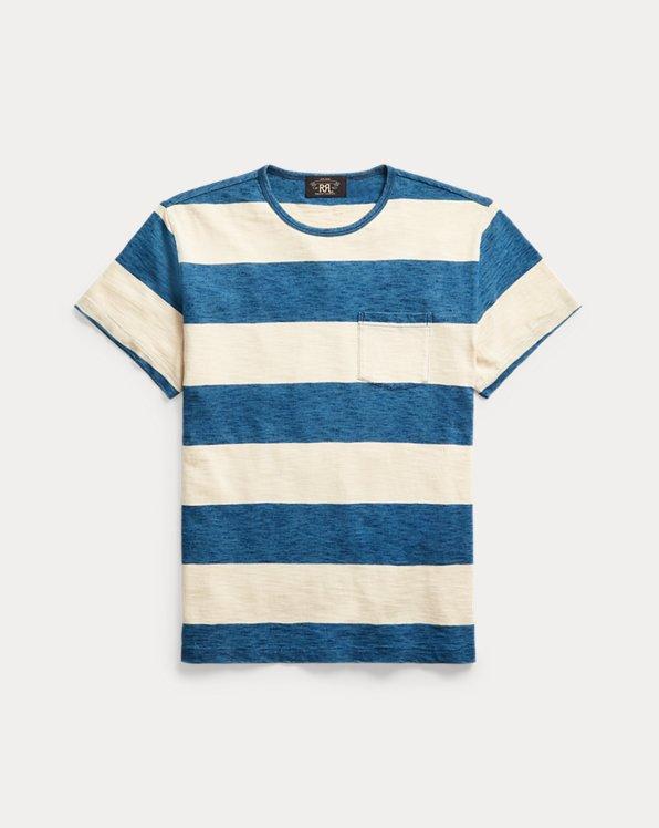 Indigo Striped Pocket T-Shirt