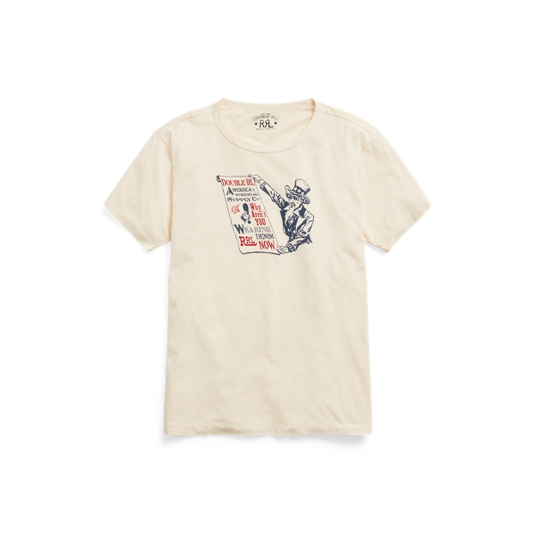 Double Rl Jersey Graphic T-shirt In Yellow