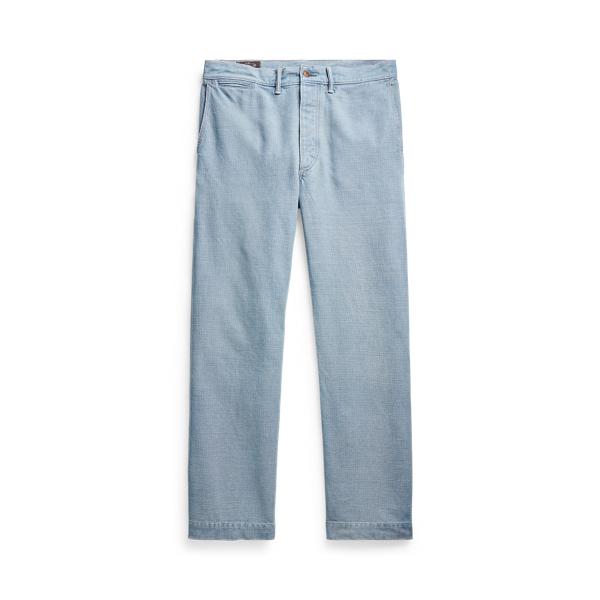 Double Rl Indigo Twill Pant In Blue