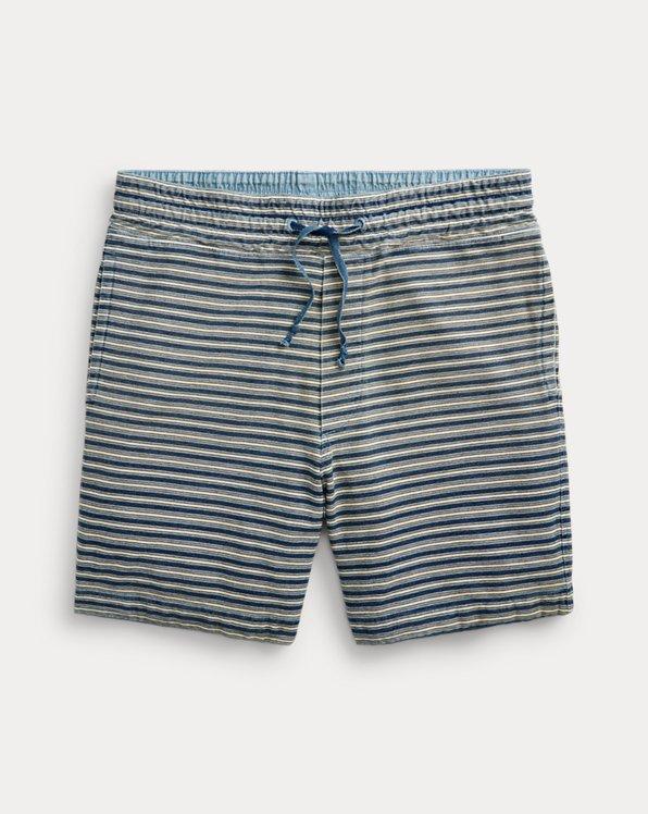 Indigo Striped Jersey Short