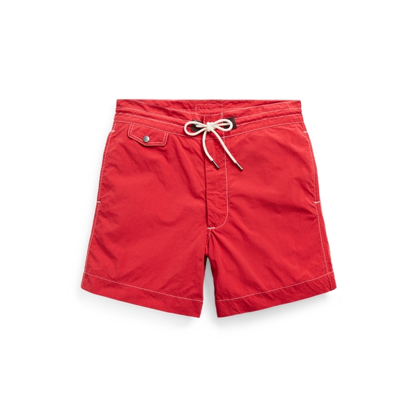 Double Rl Twill Drawstring Short In Red
