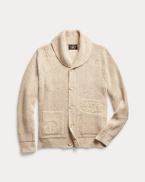 Distressed Cotton-Silk Cardigan